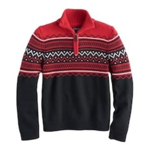 Chaps 1/4-Zip Striped Sweater (NWT)